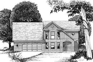 European Exterior - Front Elevation Plan #409-113