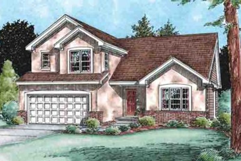 Traditional Exterior - Front Elevation Plan #20-1517 - Houseplans.com