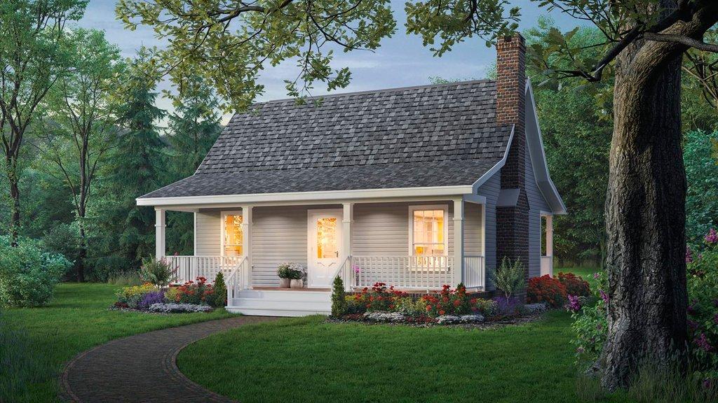 Cottage Style House Plan 2 Beds 1 Baths 800 Sq Ft Plan 21 169 Houseplans Com