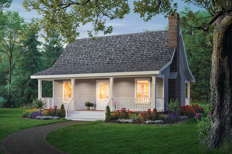 Home Plan - Cottage Exterior - Front Elevation Plan #21-169