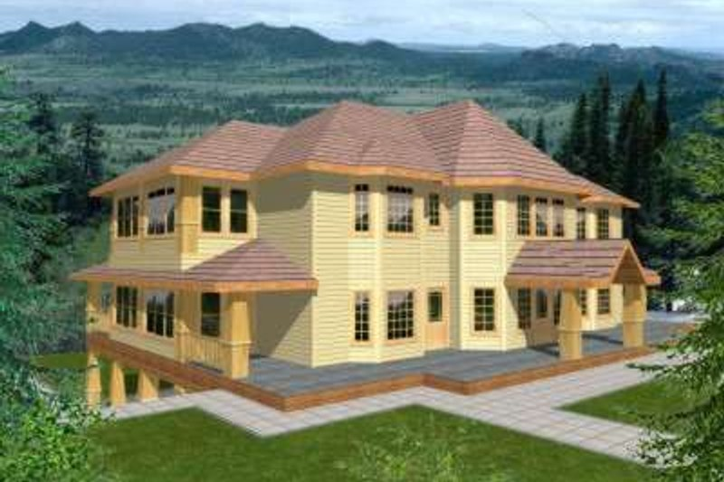 Traditional Exterior - Front Elevation Plan #117-335 - Houseplans.com