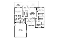Ranch Floor Plan - Main Floor Plan Plan #124-295