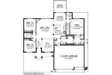 Bungalow Floor Plan - Main Floor Plan Plan #70-1070