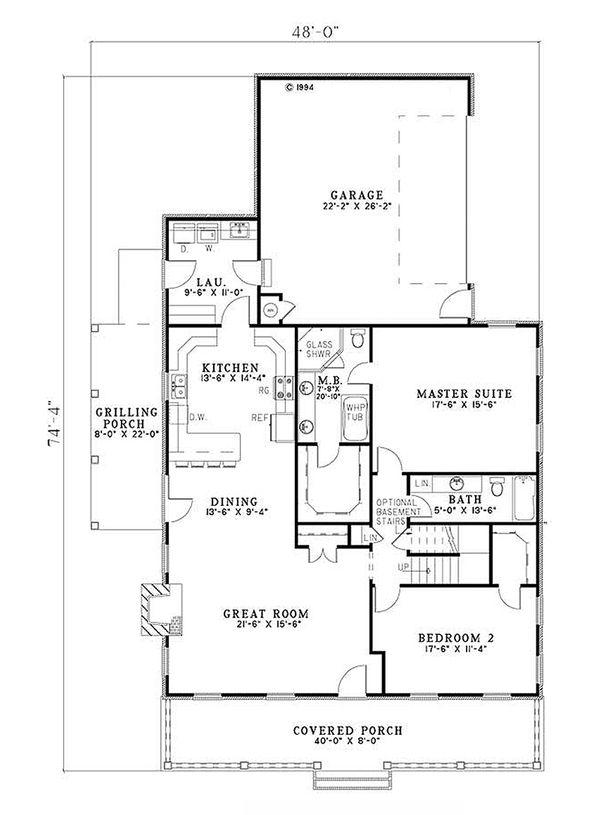 Country Floor Plan - Main Floor Plan Plan #17-2181