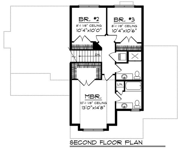 Floor Plan - Upper Floor Plan Plan #70-1236