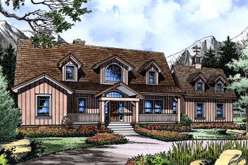 European Exterior - Front Elevation Plan #417-277