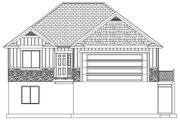 Ranch Style House Plan - 3 Beds 2 Baths 1635 Sq/Ft Plan #1060-42 Exterior - Front Elevation