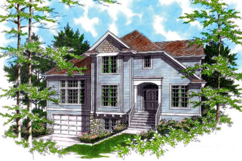 Traditional Exterior - Other Elevation Plan #48-327 - Houseplans.com