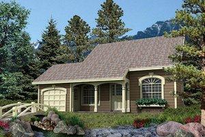 Cottage Exterior - Front Elevation Plan #57-156