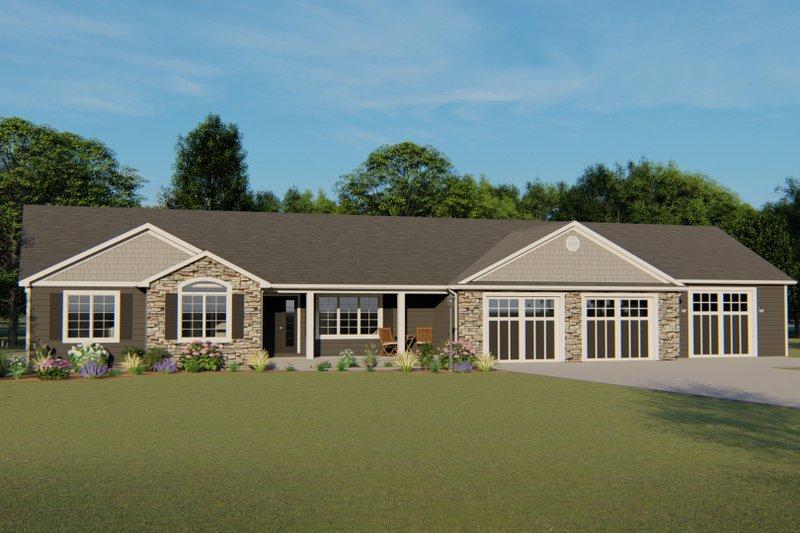 House Plan Design - Craftsman Exterior - Front Elevation Plan #1064-36