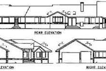 Traditional Exterior - Rear Elevation Plan #60-586