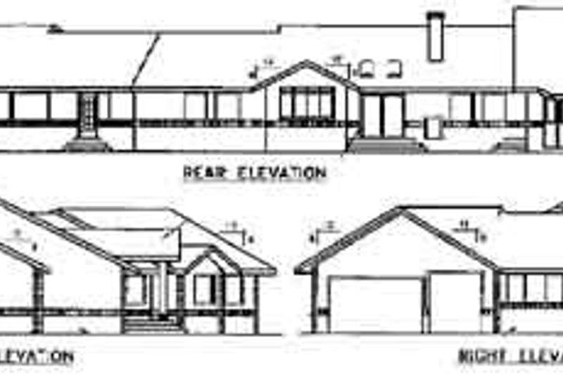 Traditional Exterior - Rear Elevation Plan #60-586 - Houseplans.com