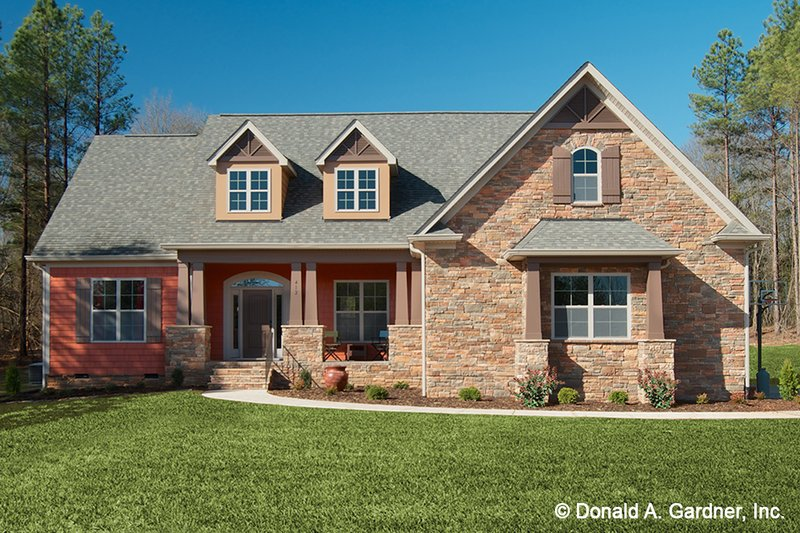 Architectural House Design - Traditional Exterior - Front Elevation Plan #929-911