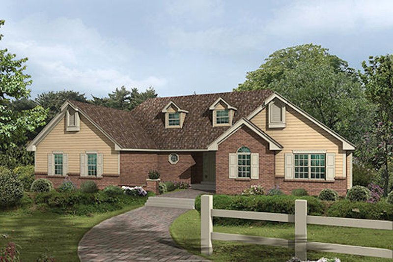 Traditional Exterior - Front Elevation Plan #57-251 - Houseplans.com