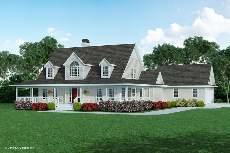 Country Exterior - Front Elevation Plan #929-122
