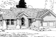 Ranch Style House Plan - 3 Beds 2 Baths 1852 Sq/Ft Plan #20-587 Photo