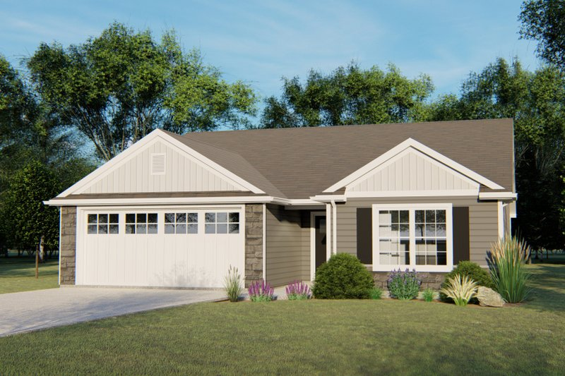 Ranch Exterior - Front Elevation Plan #1064-65