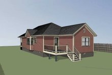 Dream House Plan - Traditional Exterior - Rear Elevation Plan #79-149
