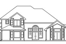 House Design - Traditional Exterior - Rear Elevation Plan #124-483