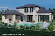 Contemporary Style House Plan - 4 Beds 4.5 Baths 2921 Sq/Ft Plan #930-515 Exterior - Rear Elevation