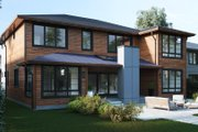 Modern Style House Plan - 5 Beds 4.5 Baths 3500 Sq/Ft Plan #1066-13 Exterior - Rear Elevation
