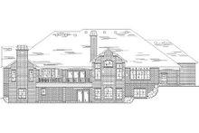 House Plan Design - European Exterior - Rear Elevation Plan #5-341