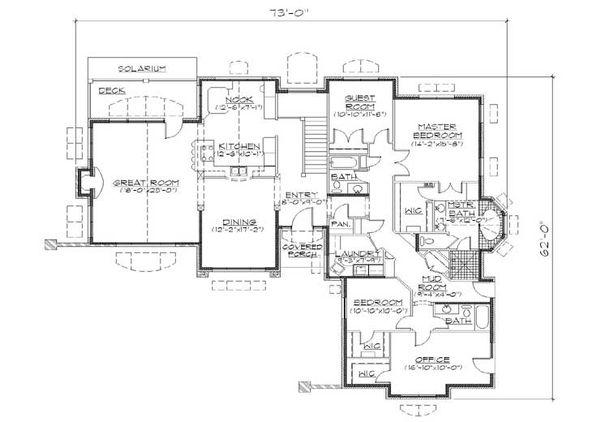European Floor Plan - Main Floor Plan Plan #5-318