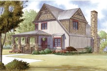 Dream House Plan - Cabin Exterior - Front Elevation Plan #923-25