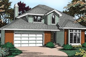 Traditional Exterior - Front Elevation Plan #90-205