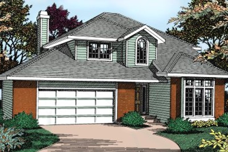 Traditional Style House Plan - 5 Beds 3 Baths 2430 Sq/Ft Plan #90-205 Exterior - Front Elevation