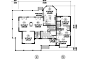 Country Style House Plan - 5 Beds 3 Baths 3455 Sq/Ft Plan #25-4562 Floor Plan - Main Floor Plan