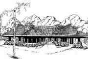 Contemporary Style House Plan - 2 Beds 2 Baths 1482 Sq/Ft Plan #60-641 Exterior - Front Elevation