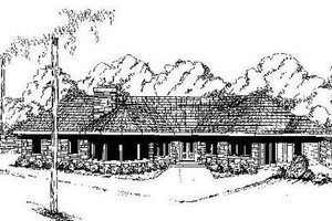 Contemporary Exterior - Front Elevation Plan #60-641