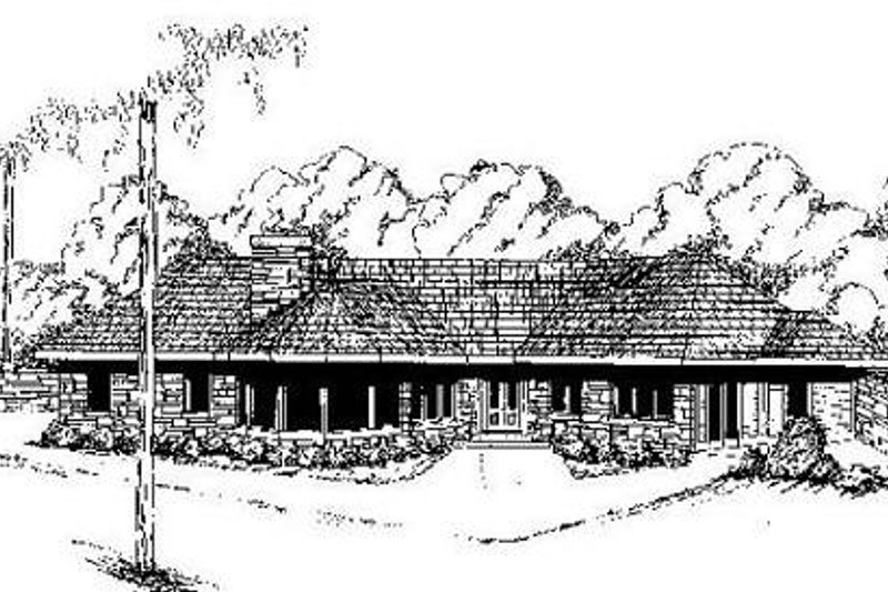Home Plan - Contemporary Exterior - Front Elevation Plan #60-641