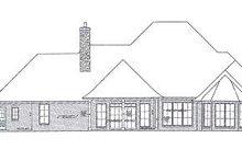 Architectural House Design - European Exterior - Rear Elevation Plan #310-277