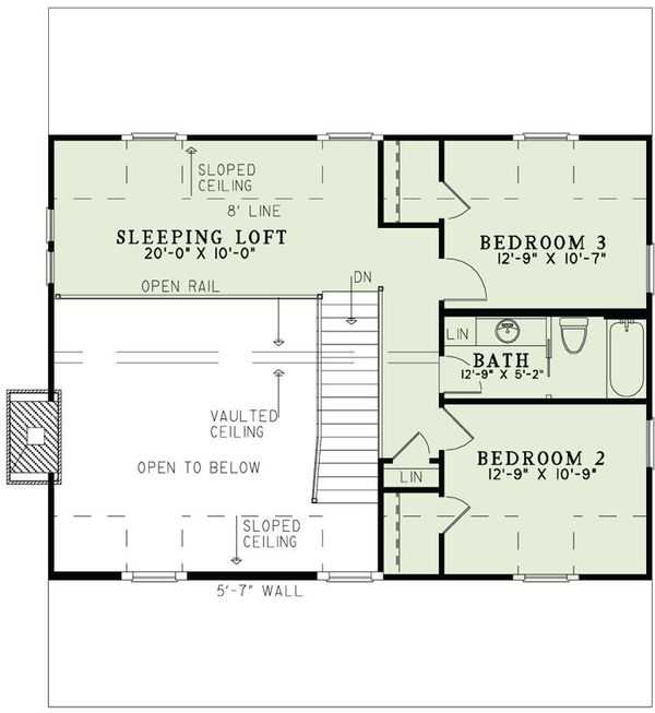 Country Floor Plan - Upper Floor Plan Plan #17-2521