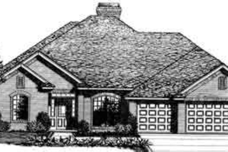 Traditional Style House Plan - 4 Beds 3 Baths 2675 Sq/Ft Plan #310-269 Exterior - Front Elevation