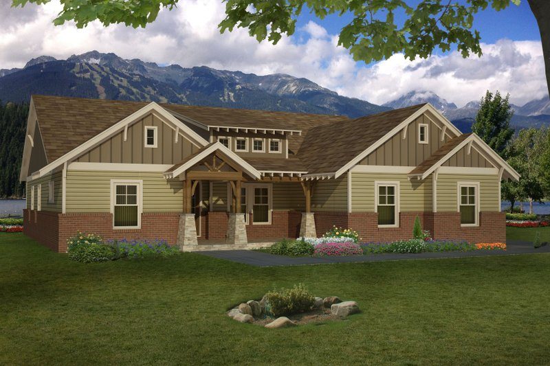 Architectural House Design - Country Exterior - Front Elevation Plan #932-382