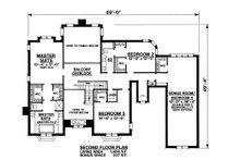 Traditional Floor Plan - Upper Floor Plan Plan #20-2300