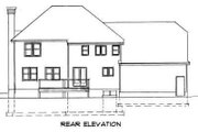Traditional Style House Plan - 4 Beds 2.5 Baths 2668 Sq/Ft Plan #75-145 Exterior - Rear Elevation