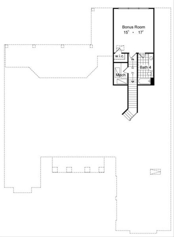 Classical Floor Plan - Upper Floor Plan Plan #417-368