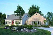 Colonial Exterior - Front Elevation Plan #72-204