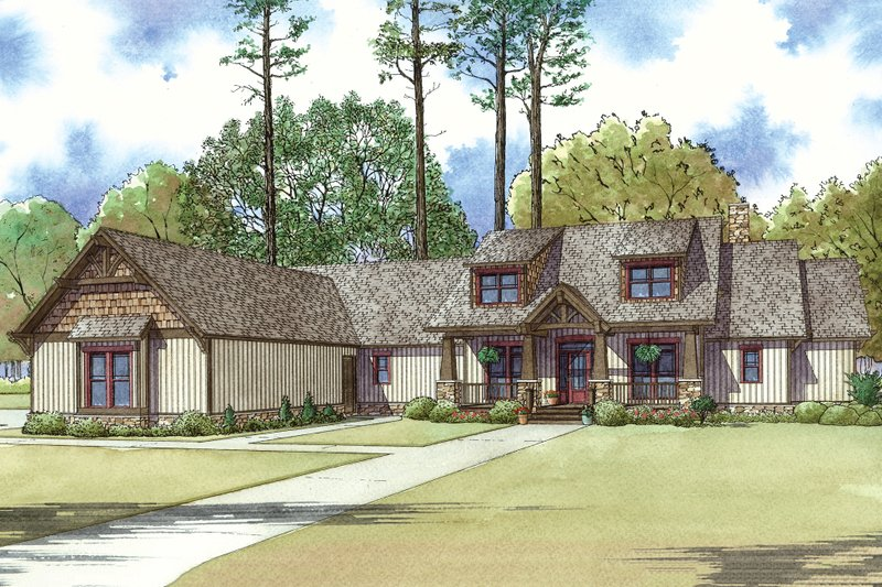 Craftsman Exterior - Front Elevation Plan #923-15