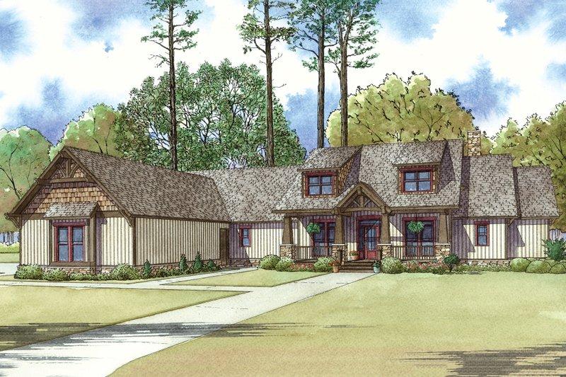 Architectural House Design - Craftsman Exterior - Front Elevation Plan #923-15