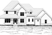 Craftsman Style House Plan - 4 Beds 3.5 Baths 3162 Sq/Ft Plan #51-446 Exterior - Other Elevation