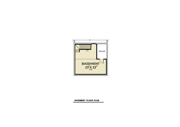Cabin Floor Plan - Lower Floor Plan #1070-100