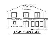 Craftsman Exterior - Rear Elevation Plan #20-2289