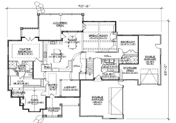 European Floor Plan - Main Floor Plan Plan #5-439
