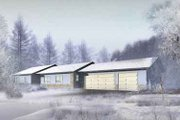 Ranch Style House Plan - 3 Beds 2 Baths 1549 Sq/Ft Plan #1-1285 Exterior - Front Elevation