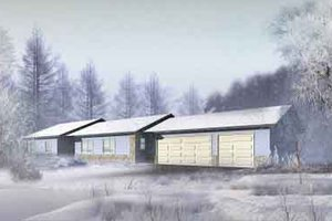 Ranch Exterior - Front Elevation Plan #1-1285